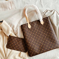 Hipgirls Louis Vuitton LV New Hot Sale Printed Letter Women Two-Piece Shopping Tote Shoulder Bag