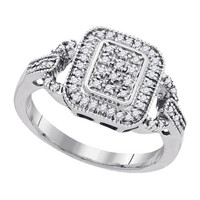 Diamond Fashion Ring in Sterling Silver 0.25 ctw