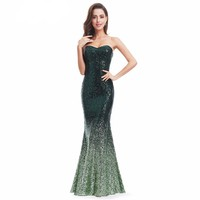 Long Gorgeous Ombre Sequin Party Prom Gown