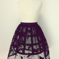 Bat Skirt Transparent by CuteLouCouture on Etsy