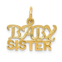 14K Yellow Gold Baby Sister Charm