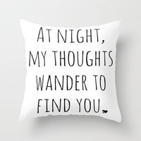 Love Quote Print - Typography Word Art Print Throw Pillow by EverMore | Society6