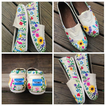 Flower Toms Custom Shoes Mother's Day