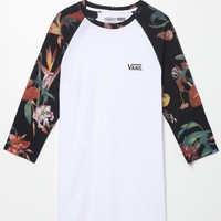 Vans Death Bloom Baseball T-Shirt - Mens Tee - White