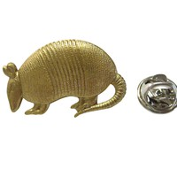 Gold Toned Armadillo Lapel Pin