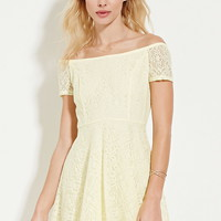 Off-the-Shoulder Lace Dress | Forever 21 - 2000168200