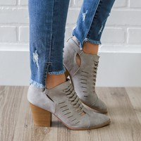 One Step Away Booties - Light Grey
