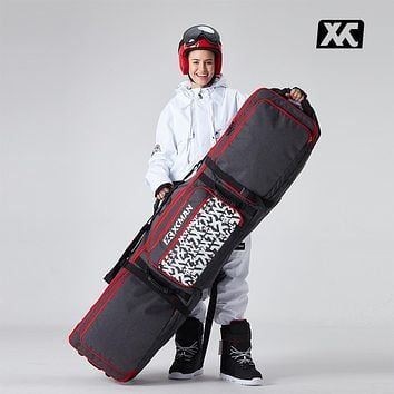 Roller Snowboard Bag with Wheels Adjustable Length for Air Travel -