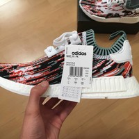 Best Online Sale Adidas NMD R1 Primeknit Datamosh Collegiate Orange Camo BB6365 Boost Sport Running Shoes Classic Casual Shoes Sneakers