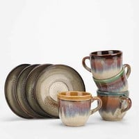 Reactive Stoneware Espresso Cup Set- Multi One