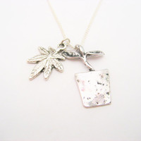 Pot Leaf Necklace Growers Necklace  Growers Jewelry Cannabis Necklace  Marijuana Jewelry  420 Necklace Mary Jane Necklace