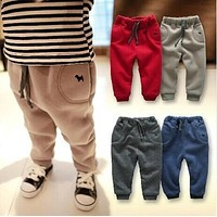 Children pants 2017 autumn and winter clothes new baby boy pants thick trousers 0-1-2-3 years old infants trousers