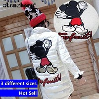Multi combo cartoon sew on patches big middle small size mickey mouse leather back patch boy or girl Embroidery clothing patches
