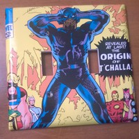 Black Panther Comic Book Light Switch Cover