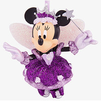 disney parks christmas minnie fairy sugar plum glitter resin ornament new w tag