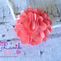 Baby Headband, Coral Couture Baby Headband, Baby Hair Band, Flower newborn head band, Newborn photography props, Mesh lace flower Canada