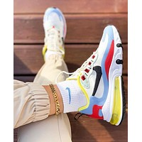 NIKE Air Max 270 React Fashion Women Men Multicolor Air Cushion Sport Running Shoes Sneakers 4#