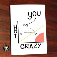 Crazy Hot Scale - Girlfriend or Boyfriend Anniversary, Friendship Card 5 X 7 Inches