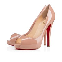 Very Prive 120 Nude Patent - Women Shoes - Christian Louboutin