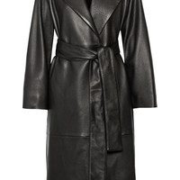 The Row - Tuggas textured-leather wrap coat