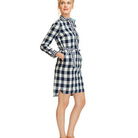 Women's Signature Poplin Pullover Shirtdress, Check | Free Shipping at L.L.Bean