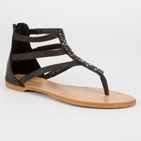 Bamboo Cope Womens Sandals Black  In Sizes