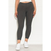 Go On  Leggings Charcoal Grey