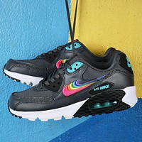 Nike Air Max 90 BETRUE Rainbow Series Rainbow Hook Black Upper