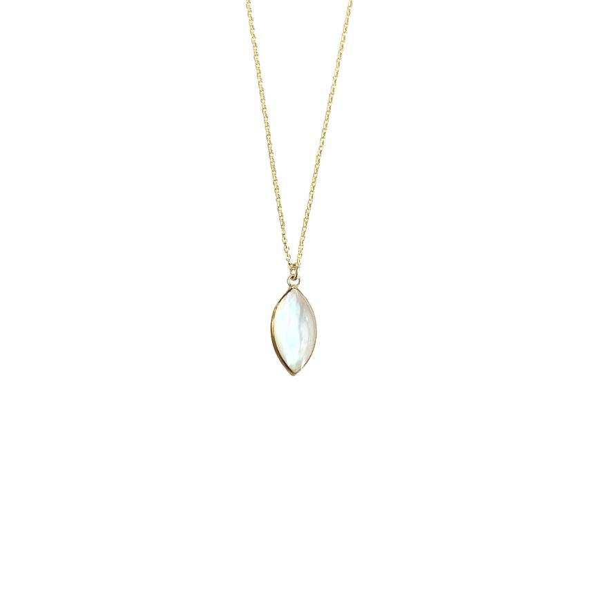 Image of Mother of Pearl Marquis Necklace