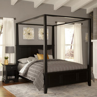 SAVE Home Styles Bedford Canopy Bed and Nightstand