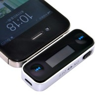 Zhizhu Wireless 3.5mm Audio Music In-car Handfree FM Radio Transmitter for iPhone 3 4 4s 5 Samsung Galaxy S3 III S4 IV Note 2 II 1 I