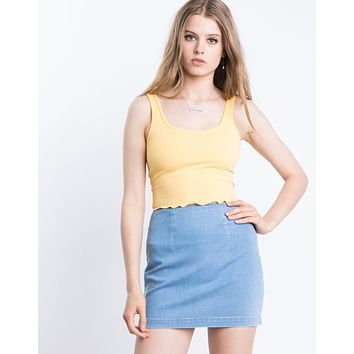 Basic Denim Mini Skirt