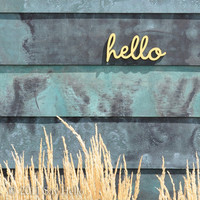 Little Hello Wall Sign by sayhelloshop on Etsy