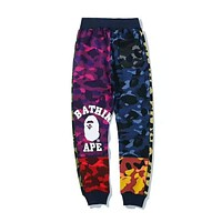 BAPE AAPE Newest Popular Women Men Stylish Camouflage Sport Pants Trousers Sweatpants