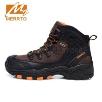 Merrto Waterproof Hiking Boots For Men Breathable Shoes Hiking Genuinle Leather Trekking Boots Outdoor Winter Sports Shoes Men