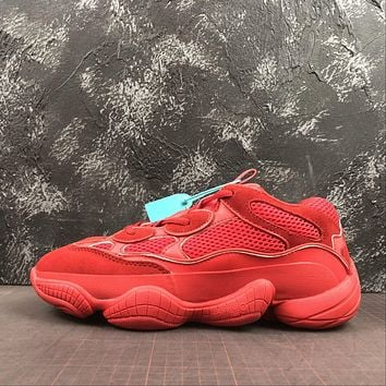 Adidas Yeezy 500 Desert Rat Red Sneakers