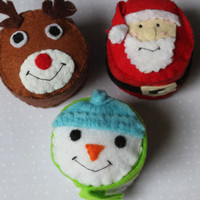 Felt food : Christmas Cupcakes free shipping
