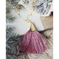 The Tassel Necklace in Pink