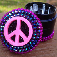 GRINDER -- MINIS Collection --  Pink Peace Sign