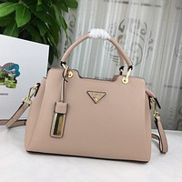prada women leather shoulder bags satchel tote bag handbag shopping leather tote crossbody 404