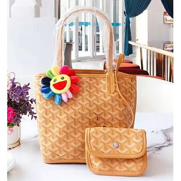GOYARD New fashion pattern print leather shoulder bag women handbag two piece suit