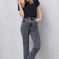 PacSun Black Acid Wash Mom Jeans at PacSun.com