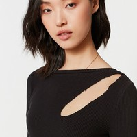 UO Cut-Out Long Sleeve Tee | Urban Outfitters