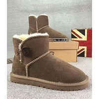 UGG Fashion Trending Woman Fur Leather Shoes Boots Winter Half Boots Shoes G-XYXY-FTQ