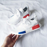 """""""ADIDAS"""" Trending Fashion Casual Sports Shoes White-red blue"""