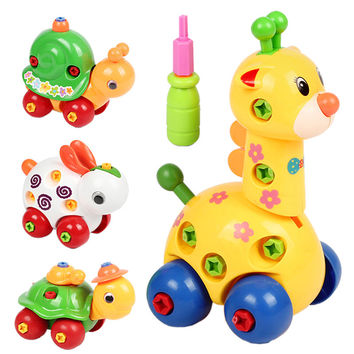 Kids Animal Puzzle Educational Toys Kids Disassembly Assembly Cartoon Toy Plastic Assembled Design Educational Toy