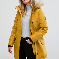 Vero Moda Faux Fur Hooded Parka at asos.com