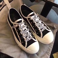 Dior Women Fashion Old Skool Flats Shoes