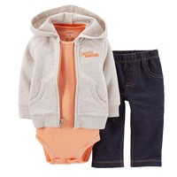 Carter's ''Seriously Handsome'' Hooded Cardigan Set - Baby Boy, Size: