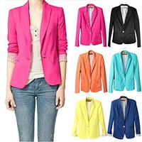 NEW blazer women suit blazer foldable brand jacket made of cotton & spandex with lining Vogue refresh blazers